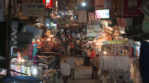 Indian Night Market stock footage