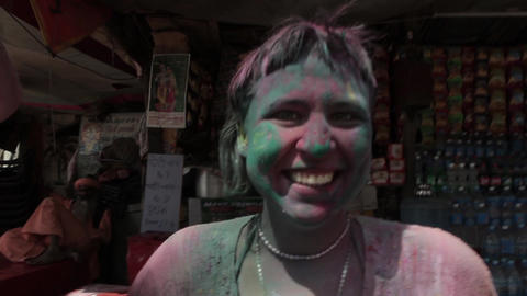 Holi - festival of colours. Day 2nd Footage