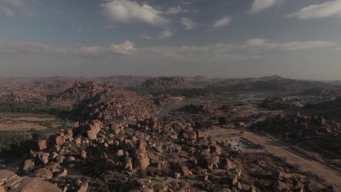 Landscapes in Hampi, India Footage
