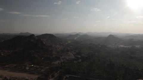Landscapes in Hampi, India Footage