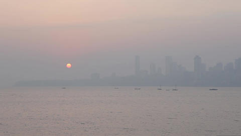 Landscapes in Mumbai, India Footage