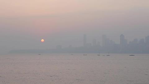 Landscapes in Mumbai, India Footage