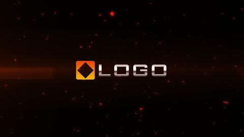 Fire Laser Blast 3D Light Particles Logo Reveal After Effects Template
