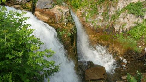 Small twin waterfall in ontario, canada Footage