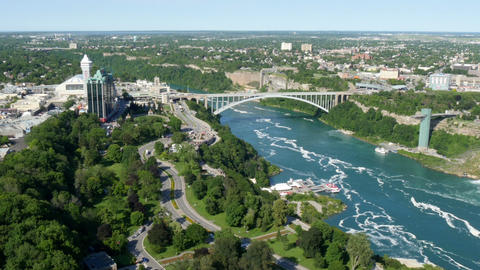 Rainbow Bridge, Niagara Falls stock footage