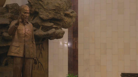 pan - closeup of the Ho Chi Minh statue in museum Footage