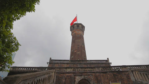 upward angle of the flag tower Live影片