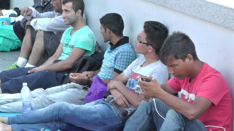 Syrian And Middle Eastern Migrants In Budapest Hungary - Batch 2