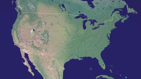 earth zoom in USA Black ビデオ