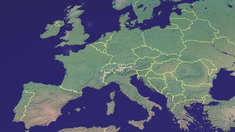 earth zoom in EU Black Footage