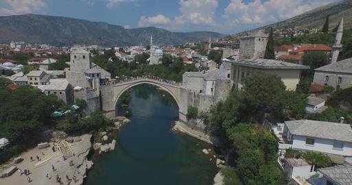 Old Bridge. Mostar, Bosnia and Herzegovina Footage
