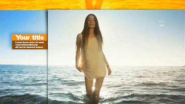 Parallax Summer Slideshow stock footage