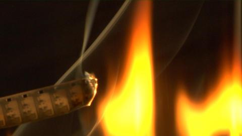 Burnt 8mm Film stock footage