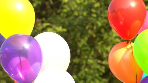 Multicoloured Balloons stock footage