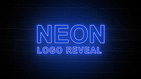 Neon Logo Reveal After Effects Template