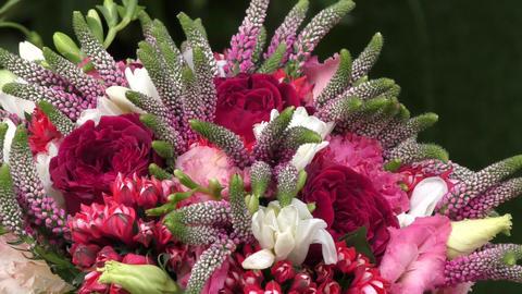 Wedding Bouquet Flowers stock footage