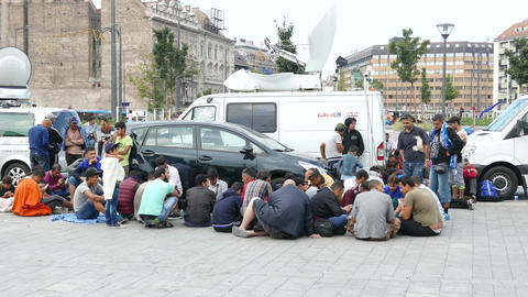 4 K Syrian Migrants at the Eastern Railway Station in…, Live Action