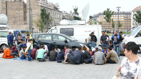 4K Syrian And Middle Eastern Migrants In Budapest Hungary - All In One Bundle From Sep 4 2015 2