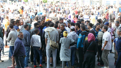 4K Syrian And Middle Eastern Migrants In Budapest Hungary - Batch 1 2