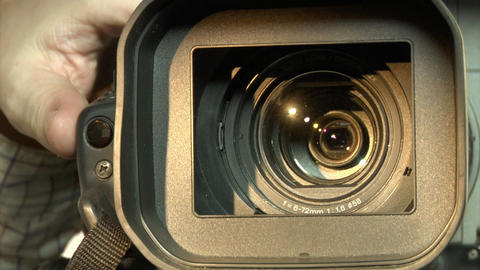 Dv-cam Camcorder Close-up stock footage
