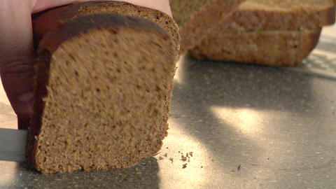 rye-bread cutting Footage