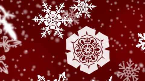 christmas snowflakes background Animation