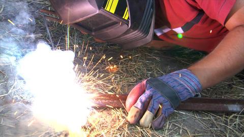 electric arc welding Footage