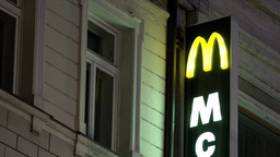 McDonald's - lighted sign - night - building (exterior) Footage