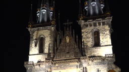 Church of Our Lady before Tyn - night Footage