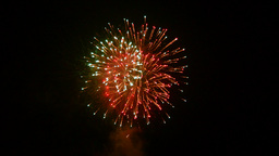 Colorful fireworks at night Footage