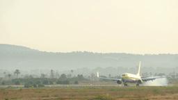 Aircraft Landing at Majorca Airport 4k Live Action