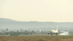 Aircraft Landing at Majorca Airport 4k Footage