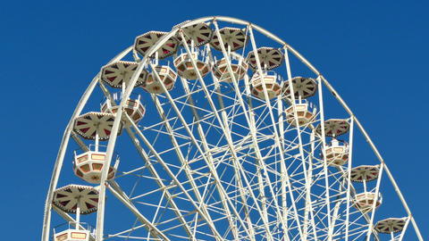 Tall Classical Fair Ferris Wheel In France Footage