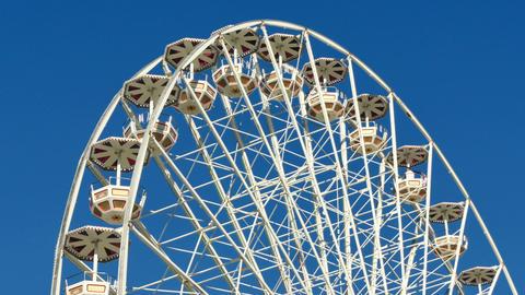 Tall Classical Fair Ferris Wheel In France Live Action