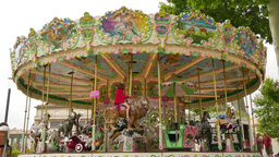Pretty Modern Carousel in France Live Action