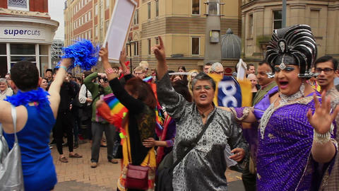 Birmingham Gay Pride - South Asian LGBT Group and drag queens ライブ動画