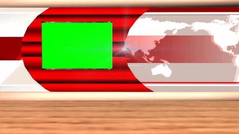 News Broadcast Background Television Program Green Screen A.01 Footage