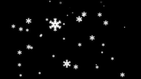 Snow Fall Animation Stock Video Footage