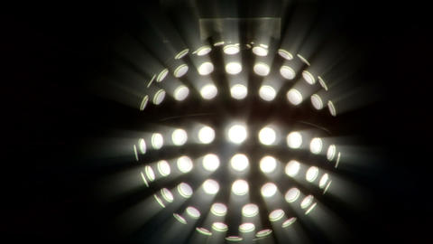 light disco ball 03 Stock Video Footage