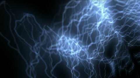 blue lightning,power electromagnetic energy field Animation