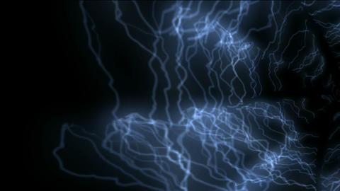 blue lightning,power electromagnetic energy field Stock Video Footage