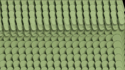 capsule shape paper cut,checkered textiles Stock Video Footage