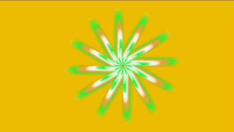 rotation gear & flower pattern,laser light rays in... Stock Video Footage