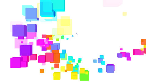 Colorful box Fbw2 HD Stock Video Footage