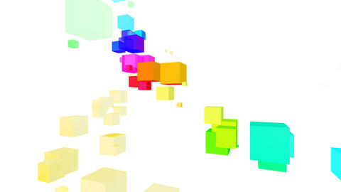 Colorful box Rbw2 HD Stock Video Footage