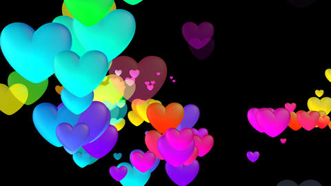 Colorful Heart Fhb2 HD Stock Video Footage