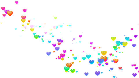 Colorful Heart Shw1 HD Stock Video Footage