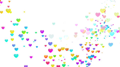 Colorful Heart Shw3 HD Stock Video Footage