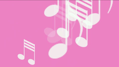 music notes,treble clef Stock Video Footage