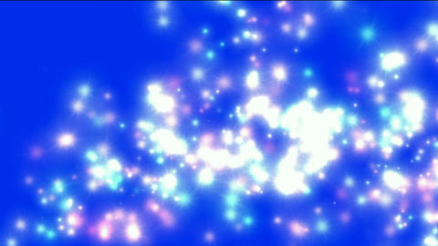 explosion flicker particles dots & snow in blue... Stock Video Footage